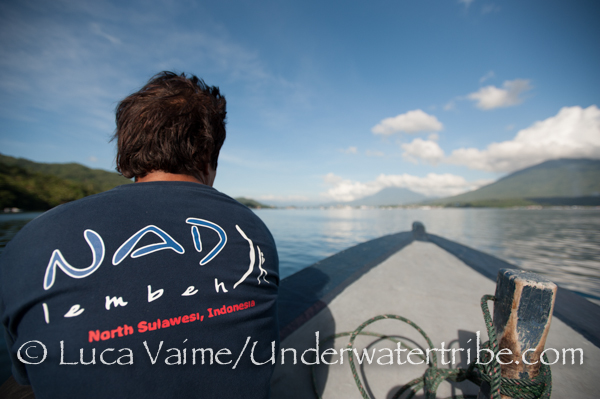 one of the dive guides of NAD is enjoying th eview on the way to the dive site